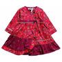 Vestido Étnico En Rojo Kenzo
