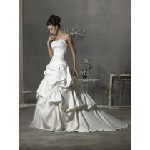 Hermoso Vestido Con Semicola, Strapless, Ivory, Nuevo +falso