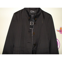 Trench Patt Color Negro