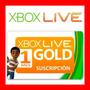 Xbox Live Gold 1 Mes Membresia Envio Gratis El Mejor Precio