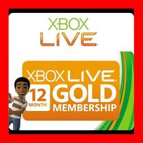 Xbox Live Gold 12 Meses Membresia Entrega Inmediata Oferta !