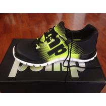 Zapatillas Reebok Zpump Nº 37,5 Color Negro Con Amarillo