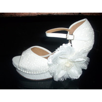 Zapatos-zapatillas De Novias Plataforma Nro.39(eco)