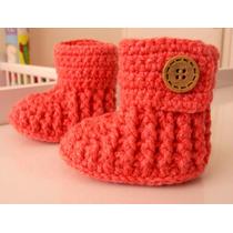 Botitas Para Bebé Tejidas A Crochet
