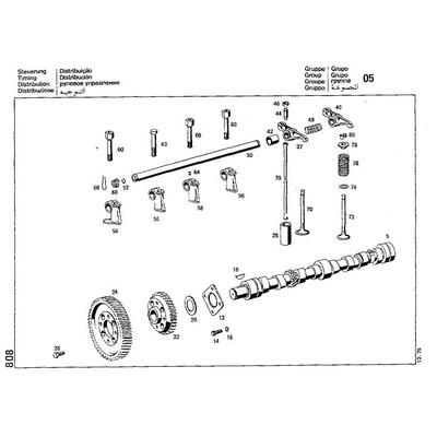 libro despiece mercedes benz motor diesel om364  1964