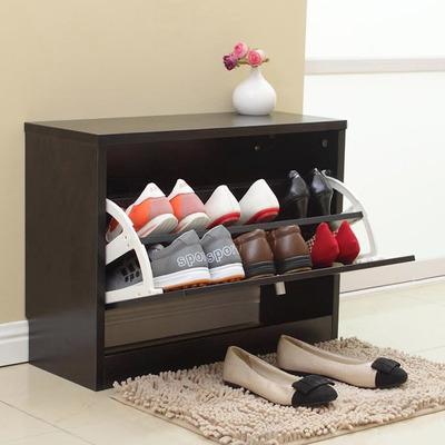Mueble organizador de zapatos negro 2 niveles rebajas - Mueble para zapatos ...