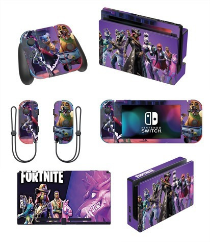 Skin Nintendo Switch Fortnite (56) Consola+dock+controles